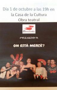 """Obra de teatro """"On està Mercé"""" @ Casa de la Cultura"""