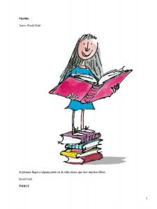 """Taller de lectura de la obra """"MATILDA"""" @ AGENCIA de LECTURA MUNICIPAL"""