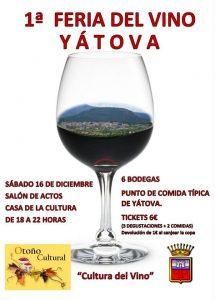 1ª Feria del Vino  YÁTOVA @ Salón de actos CASA de la CULTURA