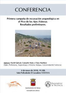 CONFERENCIA  Primera campaña de excavación arqueológica en el Pico de los Ajos YÁTOVA @ Sala Polivalente EL LAVADERO