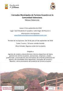 I Jornadas Municipales de Turismo Ecuestre en la Comunitat Valenciana @ Sala Polivalente El Lavadero   Yátova   Comunidad Valenciana   España