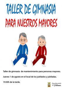 Taller de gimnasia para nuestros mayores @ Local de jubilados y jubiladas | Yátova | Comunidad Valenciana | España