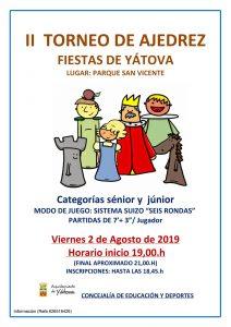 II TORNEO AJEDREZ Fiestas de YÁTOVA @ Parque de San Vicente | Yátova | Comunidad Valenciana | España