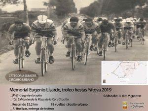 Memorial Eugenio Lisarde - Trofeo fiestas de Yátova 2019 @ RECORRIDO URBANO | Yátova | Comunidad Valenciana | España