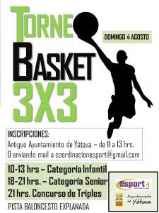 TORNEO BASKET 3X3 @ PISTA BALONCESTO EXPLANADA | Yátova | Comunidad Valenciana | España