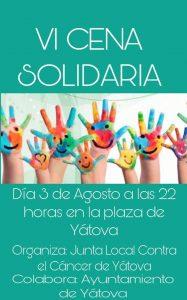 VI CENA SOLIDARIA YÁTOVA 2019 @ Plaza de la Constitución  | Yátova | Comunidad Valenciana | España