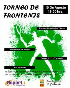 TORNEO DE FRONTENIS @ FRONTÓN MUNICIPAL | Yátova | Comunidad Valenciana | España