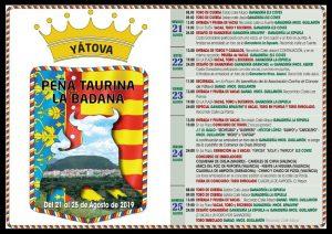 FESTEJOS TAURINOS YÁTOVA 2019 @ Plaza de la Constitución y  calles de la población según los actos a celebrar | Yátova | Comunidad Valenciana | España