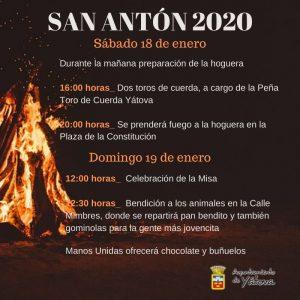 SAN ANTÓN 2020 YÁTOVA @ PLAZA DE LA CONSTITUCIÓN | Yátova | Comunidad Valenciana | España